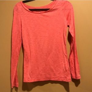 Aeropostale long sleeve pink round neck top